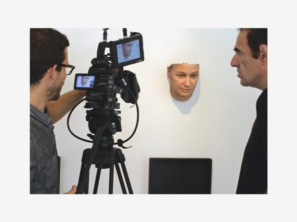 Filming profile of artist Heather Dewey-Hagborg's 'Stranger Visions' for Aspekte/ZDF.